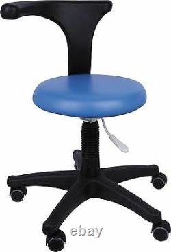 Dental Medical Office Stool Nurse Assistants Stool Adjustable Mobile Chair PU UK