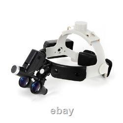Dental Medical Surgical Binocular Loupes 3.5X420mm Optical Glass Loupe Headlight