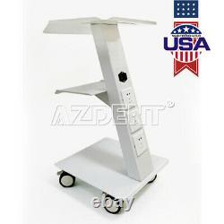 Dental Metal Medical Cart Mobile Instrument Cart Trolley with Built-in Socket