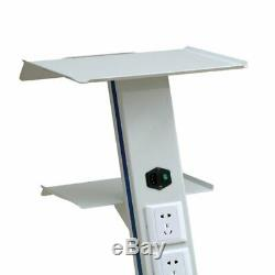 Dental Mobile Cart Trolley Serving Tray Hospital Medical Stainless Three Layers