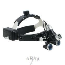 Dental Surgical Medical Headband Ajustable 3.5X Binocular Loupes Headlight LED