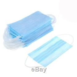 Disposable Face Mask Surgical Dental Nail Salon Dust Medical Face 2 Ply UK Stock