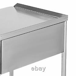 Hospital Clinic Dental Lab Medical Cart Trolley Two Layer With One Drawer Carts