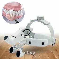 Medical Dental 3.5X-420mm Headband Binocular Loupes Magnifier + 5W LED Headlight