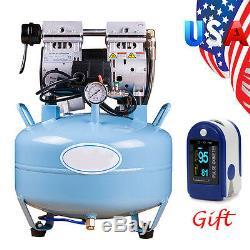 Medical Dental Air Compressor Silent Noiseless Oilless Oill Free 30L 550W + Gfit
