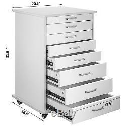 Medical Dental Equipment Alabama Assistant's Mobile Cabinet Cart 4/5/7 Drawers