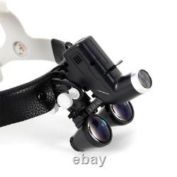 Medical Dental Surgical Headband 3.5X Binocular Loupes Kit with LED Headlight 5W