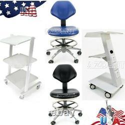 Medical Dental Trolley Built-in Socket Cart/Doctor Adjustable Stool Mobile Chair