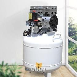 Medical Noiseless Air Compressor Oil Free Oilless for Dental Lab Chair 40L 750W
