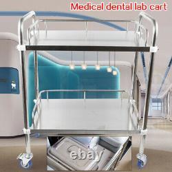 Metal Tool Medical Dental Lab Mobile Cart Trolley Omnidirectional Lockable UPS