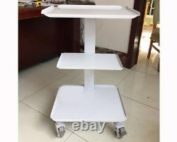 Mobile Steel Medical Cart for Dental Home Equipment with 4 Wheels