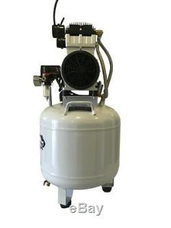 New 1.5 HP, 10 Gallon, Medical Noiseless & Oil less Dental Air Compressor 110v