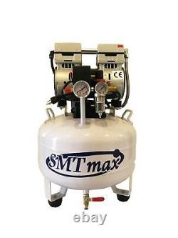 New 1 HP, 8 Gallon, Medical Noiseless & Oil Free Dental Air Compressor 220V
