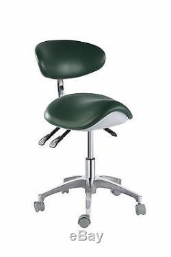 PU Leather Medical Dental Saddle Chair Adjustable Mobile Doctors Nurse Stools