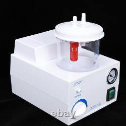 Portable 1L Medical Dental Phlegm Suction Unit Piston Pump Quiet Vacuum Device