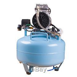Portable Dental Medical Air Compressor Silent Quiet Noiseless Oilless USA Ship