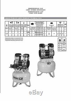 Schulz Air Compressor Oil Free 1.5hp Dental Medical