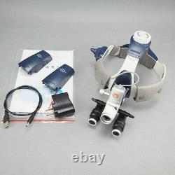 Surgical Medical Headlight 5W LED + 5.0X Dental Loupes Binocular Magnifier ENT