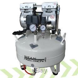 Titan Precision 22L Silent Quiet Dental Medical Clinic Oil Free Air Compressor