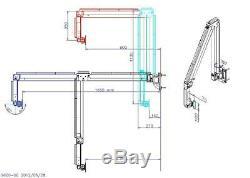 Tyke Supply Commercial Hospital Dental Medical Office Long Wall Arm Model 96