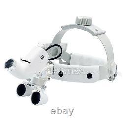 UK Dental Surgical Medical Headband LED Binocular Loupes DY-106 3.5X White