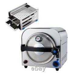UPS 14L Dental Autoclave Steam Sterilizer Lab Equipment Medical Sterilization