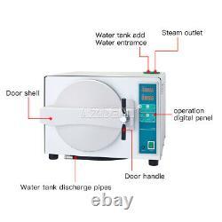 UPS Dental Lab Medical 18L Autoclave Sterilizer Vacuum Steam Automatic & Drying