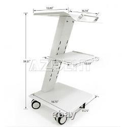 USADental Medical Metal Mobile Instrument Cart Dental Trolley Built-in Socket