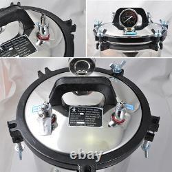 USA 8L Medical Dental Sterilization Pressure Steam Autoclave Sterilizer Machine