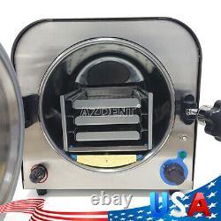 US 14L Dental Autoclave Steam Sterilizer Medical Sterilization Equipment 900W