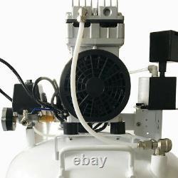 US 40L Medical Dental Air Compressor Noiseless Silent Quiet Oil-less Oil Curing