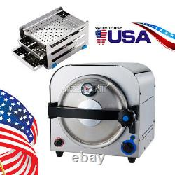 US Dental Lab Medical 14L Autoclave Sterilizer Vacuum Steam Sterilization #304