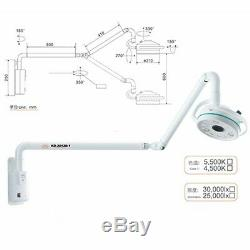 Wall-Mounted 36W LED Surgical Medical Exam Light Dental Shadowless Cold Light