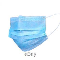 10000 Pcs Visage Masque Chirurgical Médical Dentaire À Usage Unique 3-ply Bouche Couverture Lot USA