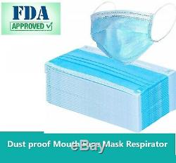1000 Pcs À Usage Unique Masque Facial Chirurgical Dentaire Médicale Industrielle 3-ply