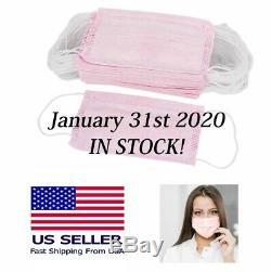 100 Pcs Soft Pink Earloop Respiratoire Masque Nail Salon Vétérinaire Médical Dentaire