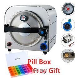 14 L Dental Autoclave Steam Sterilizer Medical Stérilisation & 7 Days Pill Box