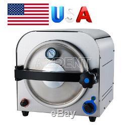14l Dentaire Autoclaves À Vapeur Stérilisateur Équipement De Laboratoire Médical Stérilisation USA