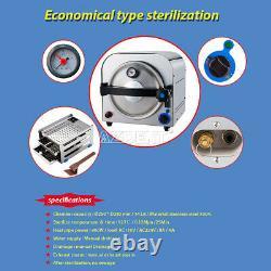 14l Dental Autoclave Steam Stérilisateur Medical Sterilization Equipment 900w 110v