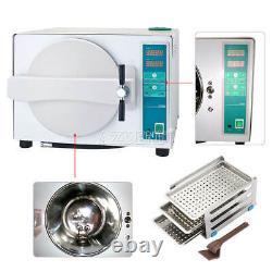 18 Litres Dental Medical Steam Autoclave Stérilisateur Cabine Fonction De Séchage 1100w
