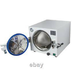 18l 900w Stérilisateur De Vapeur Dentaire Médical Autoclave Machine D'équipement + Cadeau Gratuit