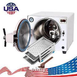 18l Dental Autoclave Steam Stérilisateur Médical Stérilisation Acier Inoxydable 110v