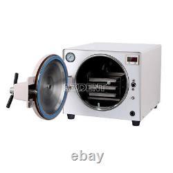 18l Dental Updated Autoclave Steam Sterilizer Medical Sterilization+ Cadeau Gratuit