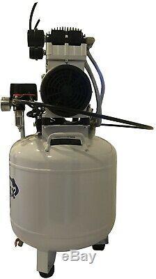1.5 Hp, 10 Gallon, Noiseless Médical Et Moins D'huile Dentaire Compresseur D'air Avec Sèche