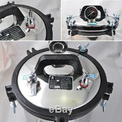 1pc 8l Médicale Dentaire Autoclave À Vapeur Stérilisateur Plein Pot Inoxydable + Cordon D'alimentation