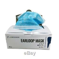 2000 3-ply Bleu Chirurgie Dentaire Masque Oreille-boucle Médicale Visage, À Usage Unique (40 Box)