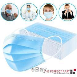 2000 Pcs Visage Masque Chirurgical Médical Earloop Dentaire À Usage Unique 3-ply Bouche Couverture