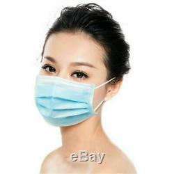 200 Pcs Visage Masque Contour D'oreille Médicale Chirurgicale Dentaire À Usage Unique 3-ply Bouche Couverture