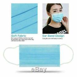 20/10/50 Masque Visage Bouche Couverture Chirurgical Médical Dentaire À Usage Unique 3-ply Earloop