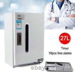 27l Cabinet De Désinfection Dentaire Medical Uv Stérilisateur Avec 10x Bacs Gratuits Timer Us